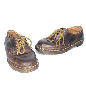 Dr. Martens Vintage Brown Leather Oxford Shoes
